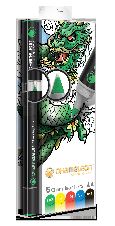 Chameleon Pen 5 Pen Primary Set (カメレオンペン 5本入りプライマリーセット)