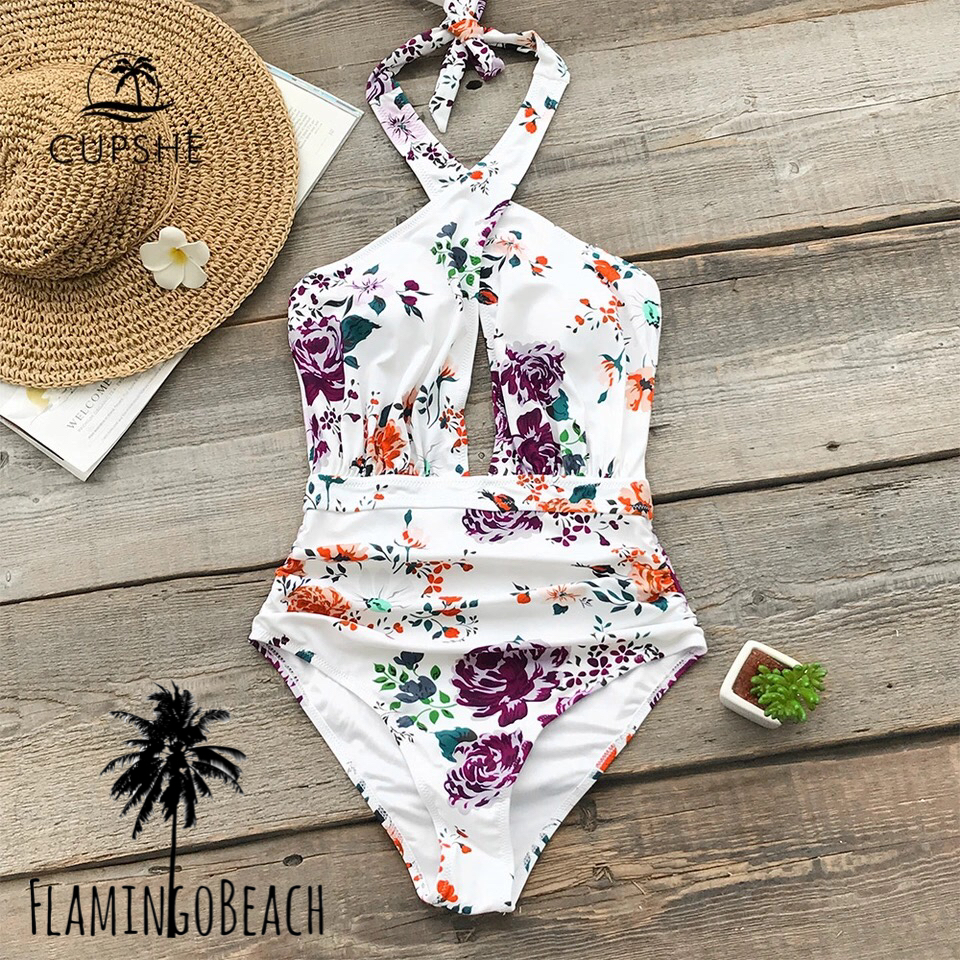 【FlamingoBeach】flower cut monokini モノキニ