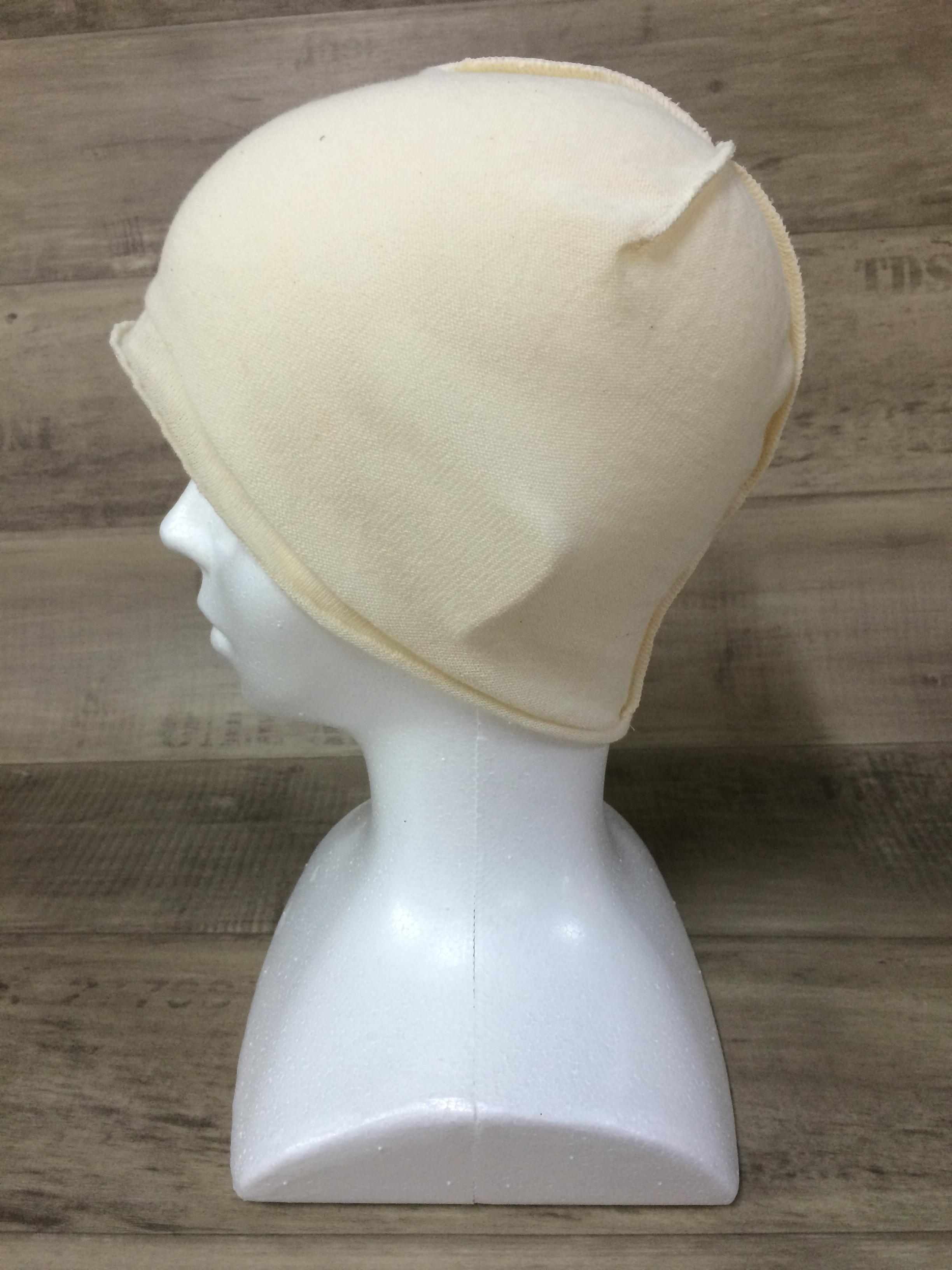 【送料無料】こころが軽くなるニット帽子amuamu|新潟の老舗ニットメーカーが考案した抗がん治療中の脱毛ストレスを軽減する機能性と豊富なデザイン NB-6057|フレンチバニラ <オーガニックコットン インナー>