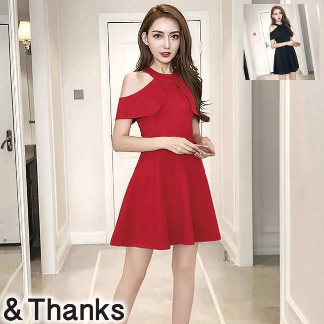 ドレス特集 ホルターネックドレス 2カラー 4サイズ