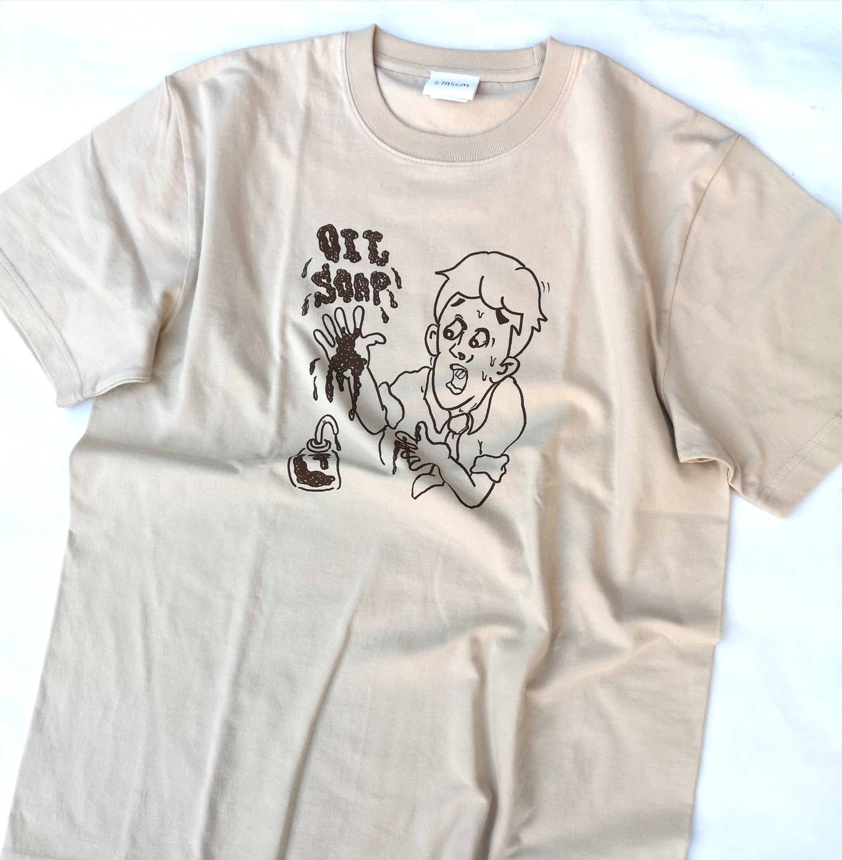 "STASCM  ""おっとっとシリーズ"" OIL SOAP TEE SIZE : L"
