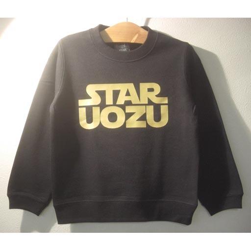 STAR UOZU キッズトレーナー ブラック×ゴールド