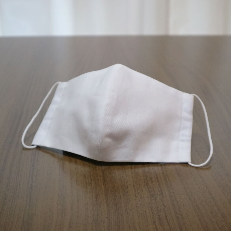 【子供S】布マスク2枚セット/無地ホワイト