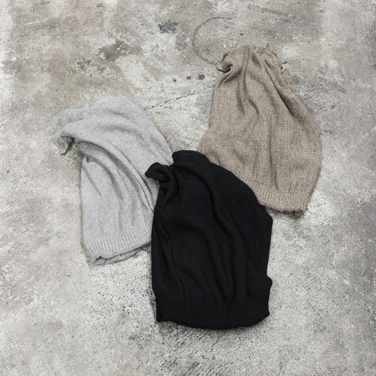 697ACU27-BLACK / CAMEL / GRAY / ドレープビーニー