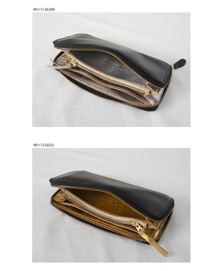 MASTER&Co. マスターアンドコー BUTTERO×ECOMURALES LONG WALLET メンズ レディース 財布 ウォレット ロング レザー 革 シルバー ゴールド FUDGE ファッジ 通販 (品番mc972)