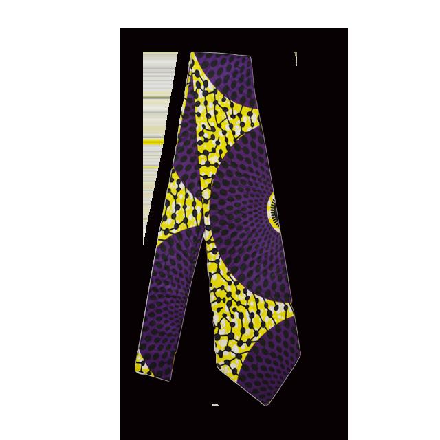 アフリカ柄ネクタイ(NeckTie 紫黄玉)
