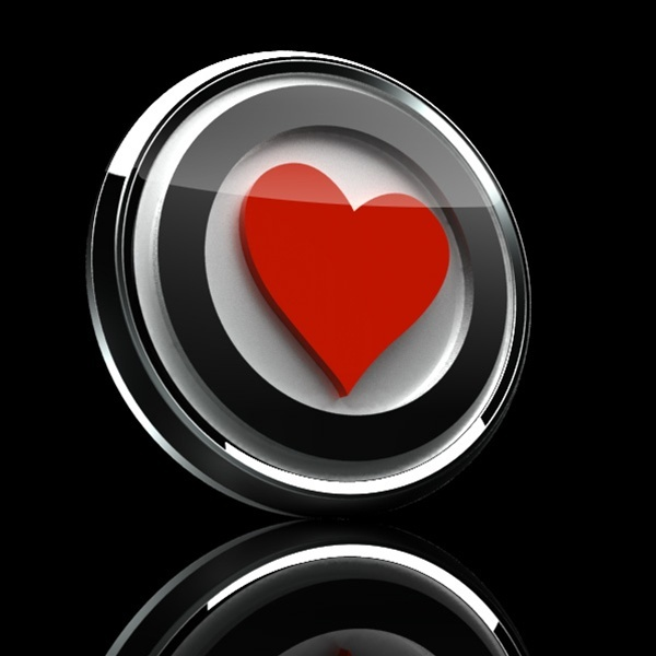 ゴーバッジ(3D)(LC0020 - 3D HEART PREMIUM 01) - 画像2