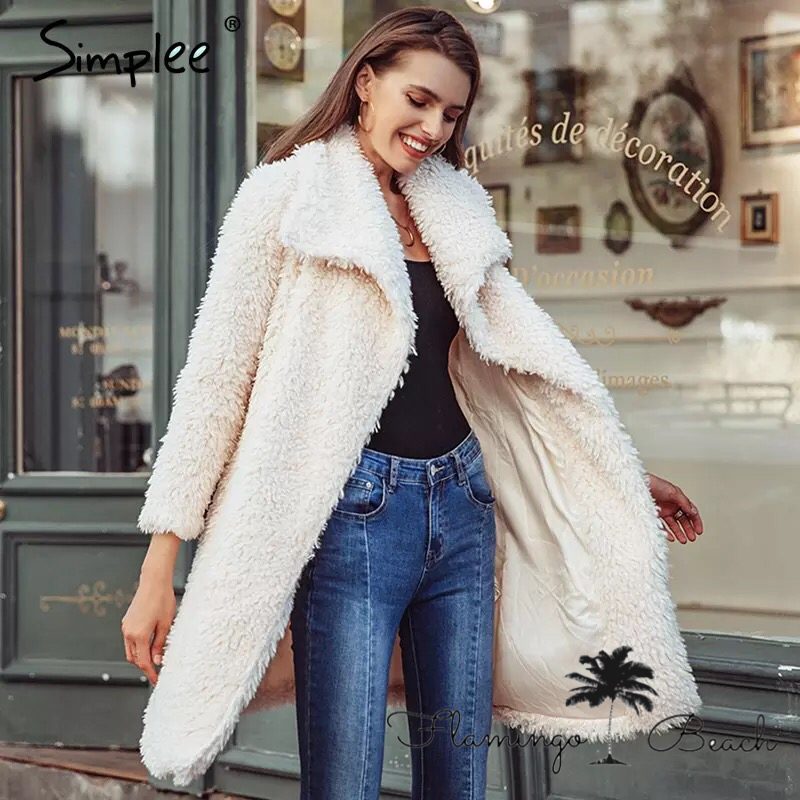【FlamingoBeach】long fur coat
