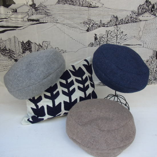 リバーシブルラインベレー帽子 全3色 - 画像1