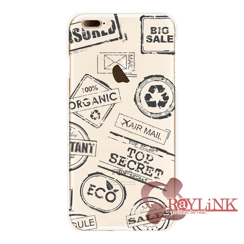 【スマホケース】iPhone7用クリアケース 文字模様
