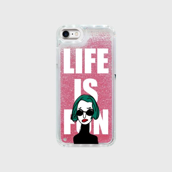 """iPhone限定★グリッターケース・""""LIFE"""""""