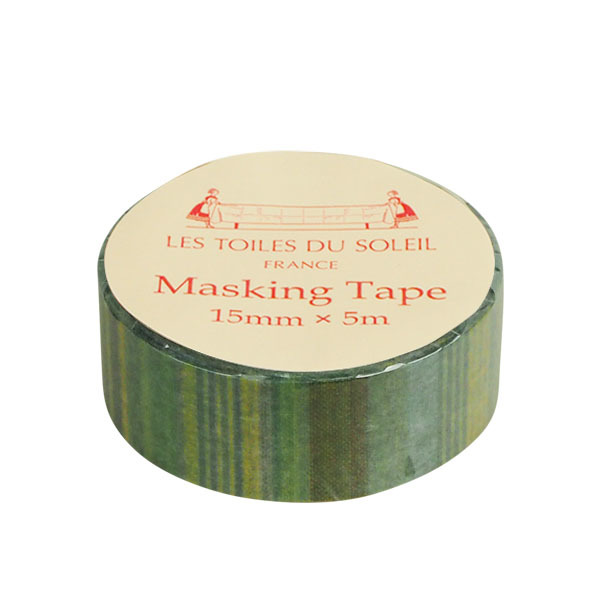 【LES TOILES DU SOLEIL】 マスキングテープ(サントラン ターコイズ ブラン ジョンヌ/SANTORIN Turquoise Blanc Jaune)