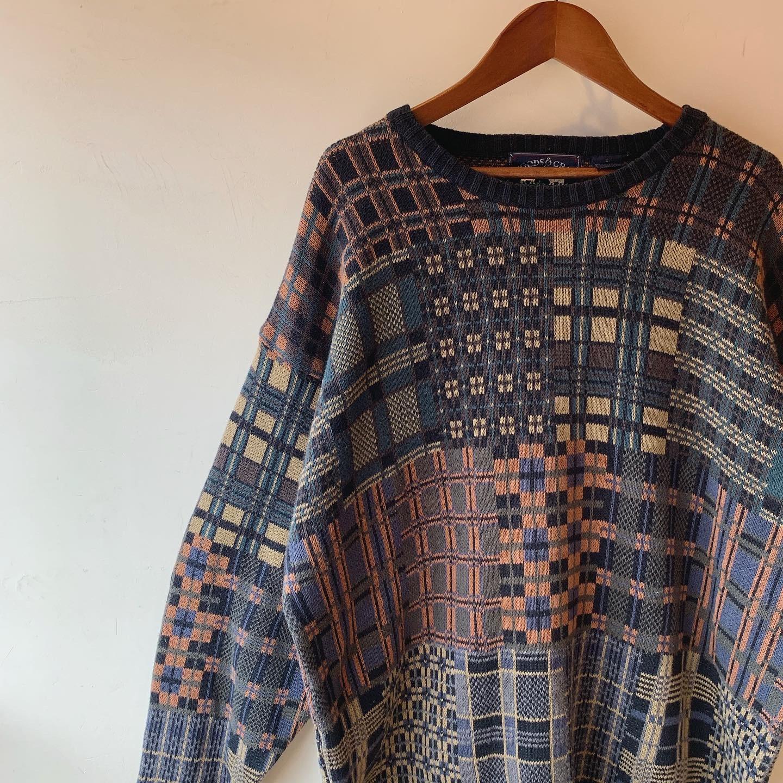 vintage cotton knit sweater