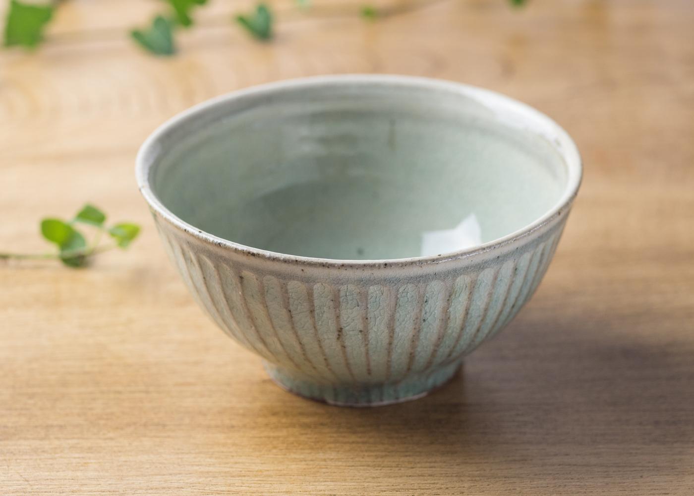 灰釉 鎬 飯碗(大)2/くるり窯