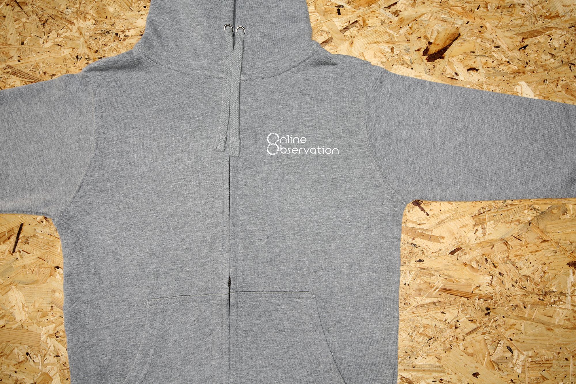 Logo Zip-up hoodie Gray  / ロゴ・フーディ