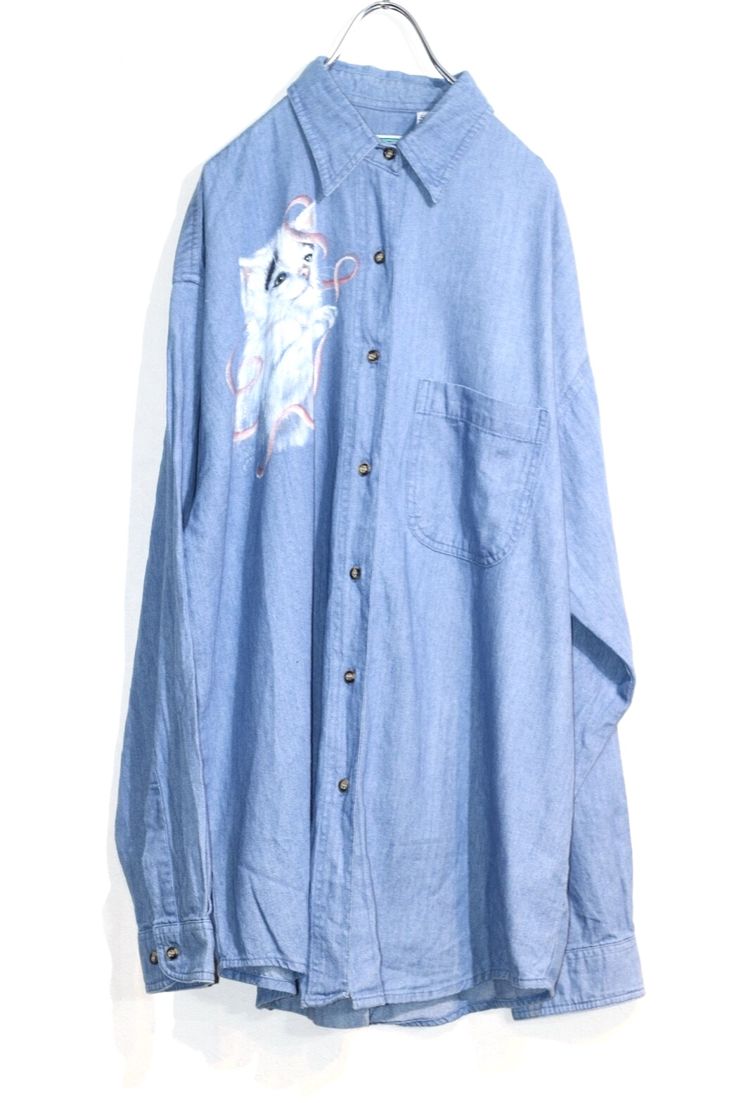 Cat  denim shirt