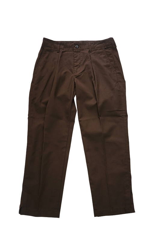 T/C TWILL WIDE PANTS (BROWN)