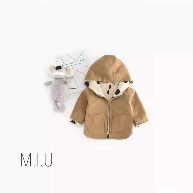 リバーシブルドット柄ジャケット #MIU631