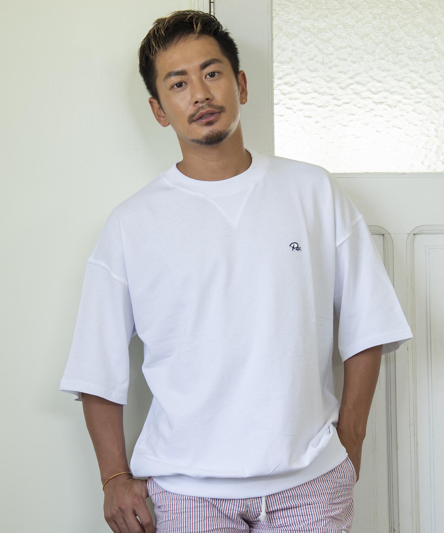 HALF SLEEVE COLOR SWEAT T-shirt[REC219]