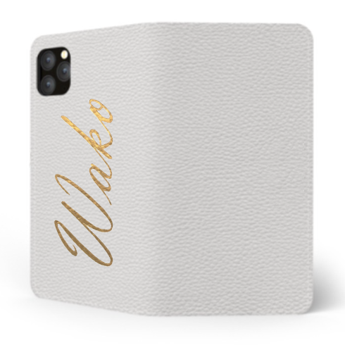 Custom Name iPhone with Premium Shrink Leather Case (Limited/8月分数量限定) Book Cover