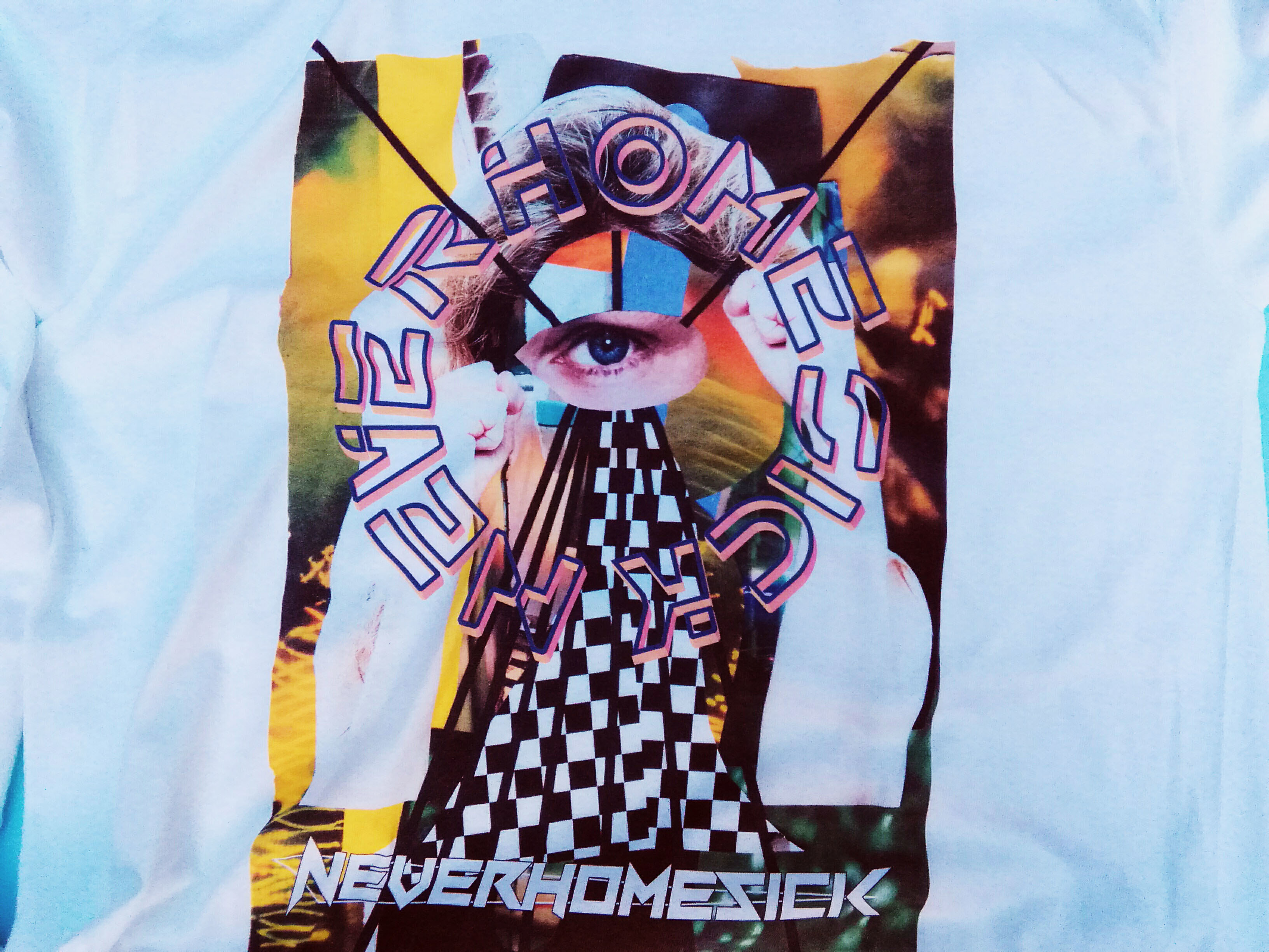 "NEVERHOMESICK× PRANK Weird Store ""count"" Long Sleeve TEE WHITE"