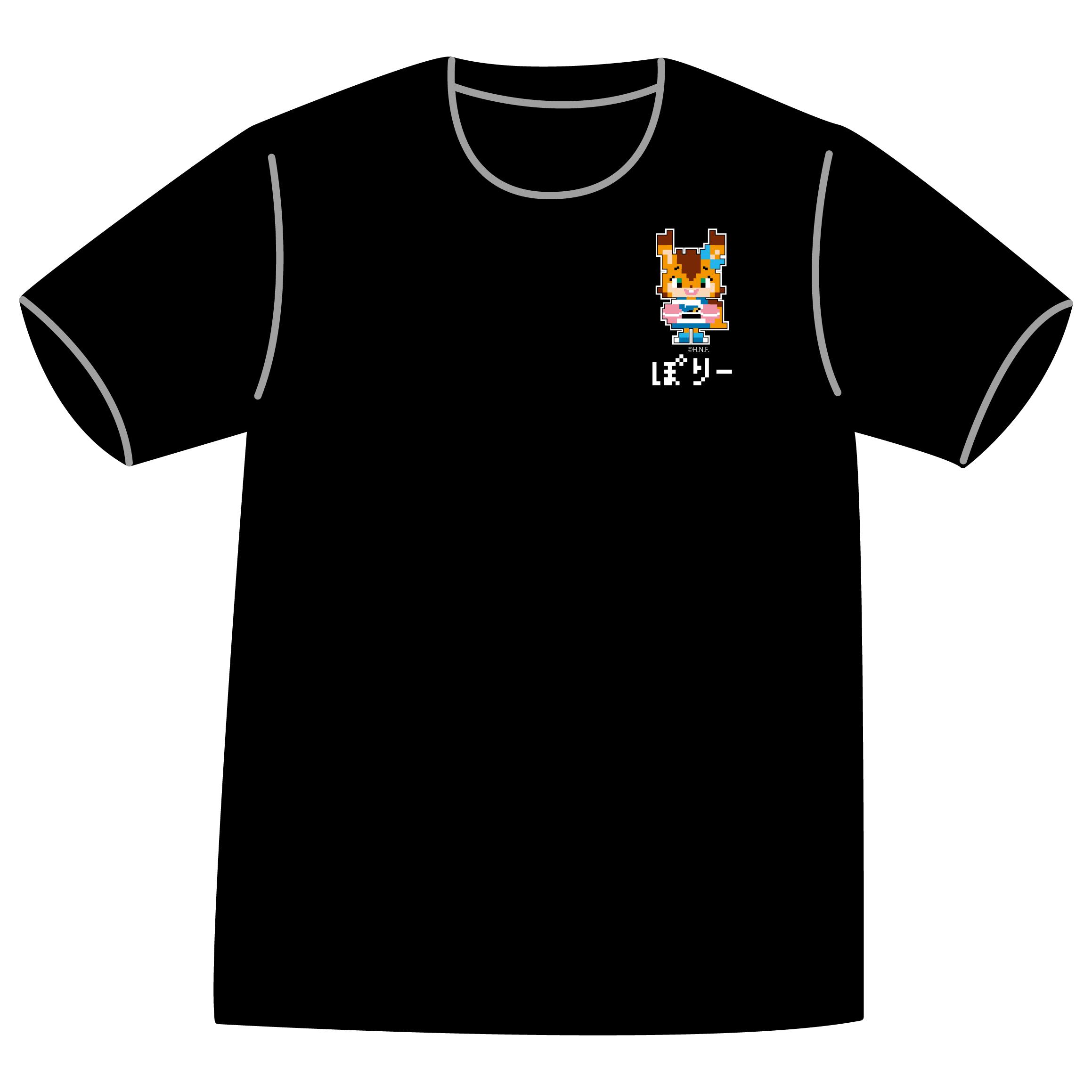 ドットファイターズ 「ポリー」Tシャツ ブラック