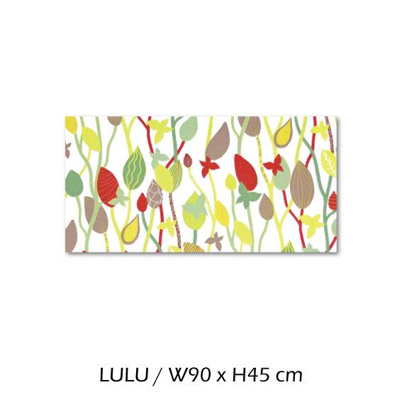 北欧生地 ファブリックパネル 横90 cm x 縦45 cm Kinnamark LULU 受注販売商品 (100428)