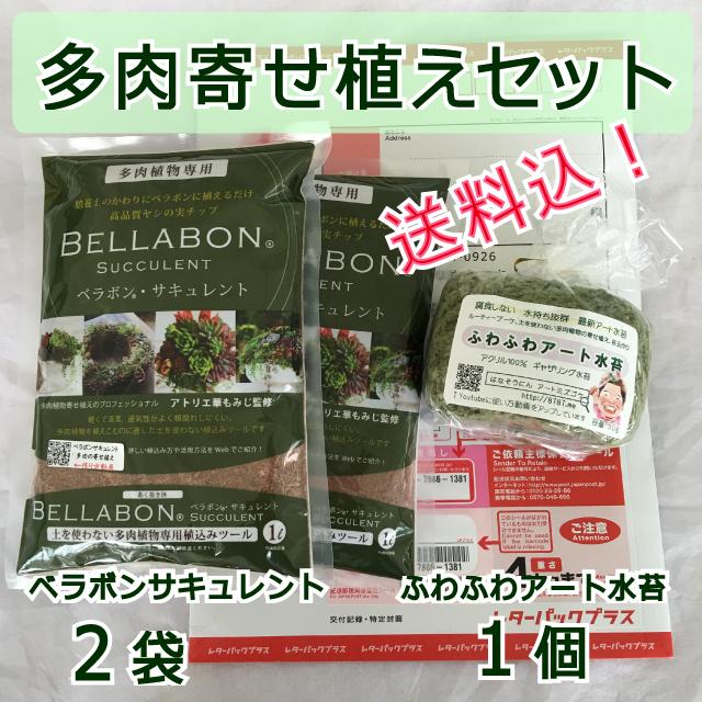 【送料込】ギャザリング水苔1個&ベラボンサキュレント2袋 セット - 画像1