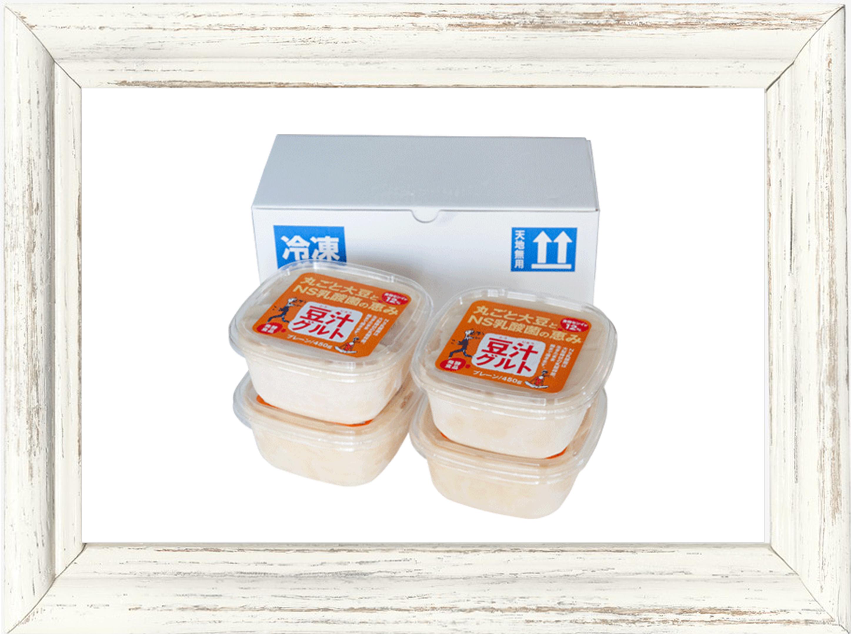 〈農家直送/冷蔵〉発酵食品▶︎植物乳酸菌/発酵食品 豆汁グルト 450g 4個お買い得セット
