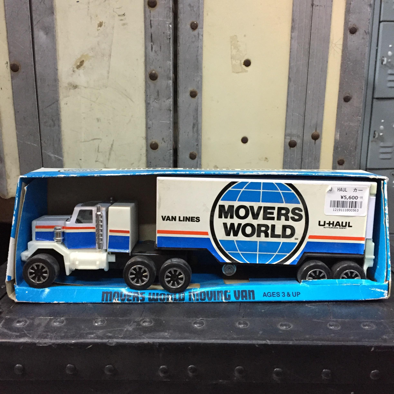 品番0563 U-HAUL  MOVERS WORLD MOVING VAN トラック バントレーラー ヴィンテージ アメリカン雑貨 外箱付 011