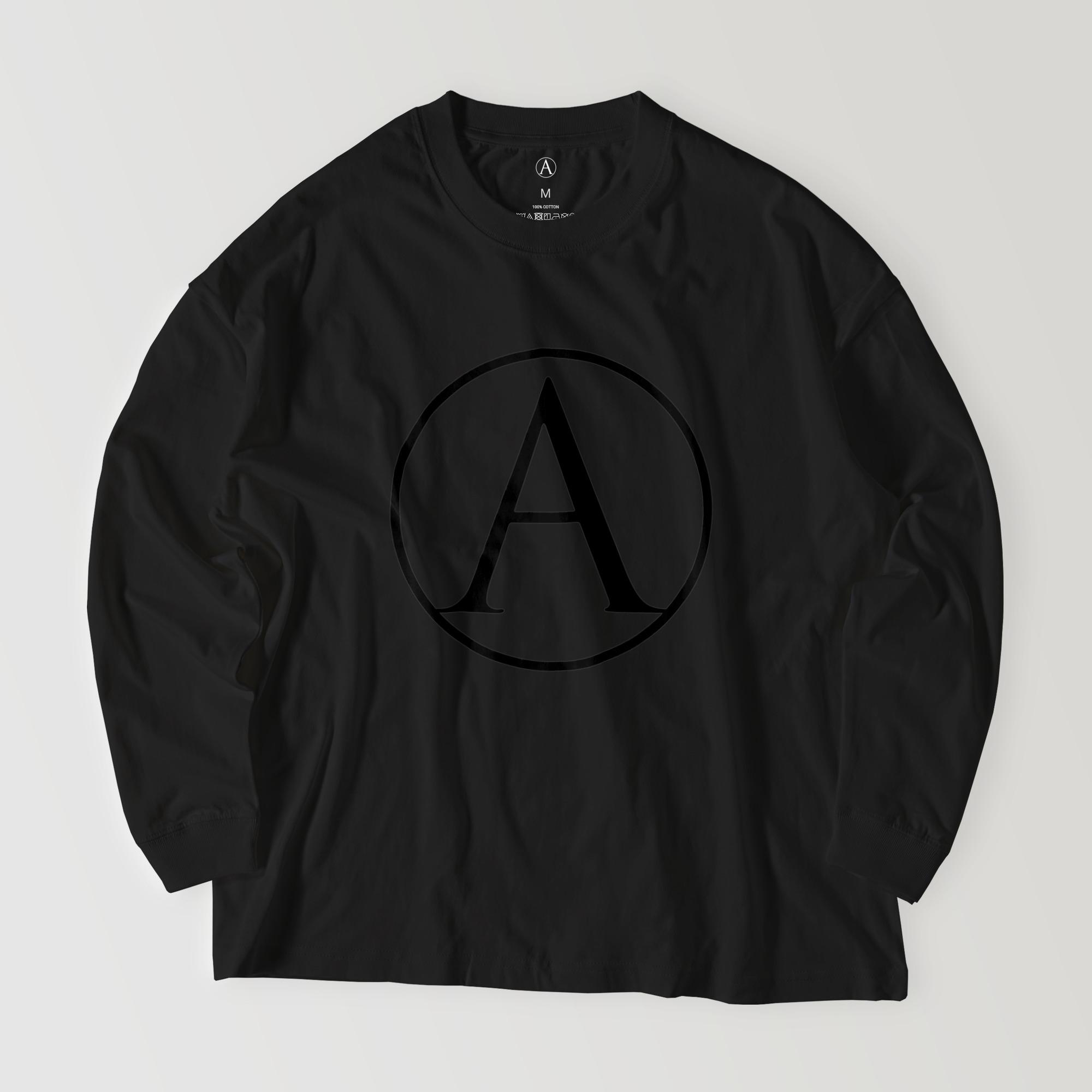 A ビッグシルエットロングシャツ ブラック / Mens