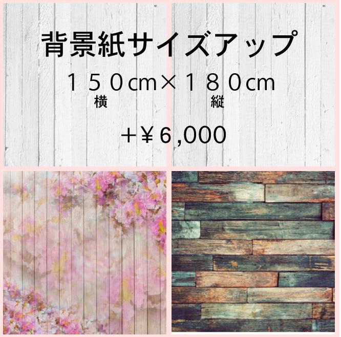 背景紙サイズアップ料金150cm×180cm