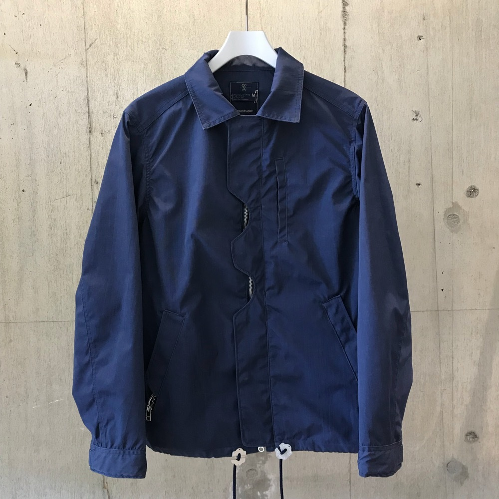meanswhile Blackboard Cloth Odd Job Flap Coach Jacket/ DEEP SEA