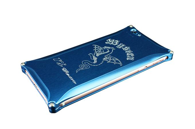 iPhone 6 Plus/6s Plus用 ワイバン スマートフォンケース ブルー[XXSP-0002-BU]
