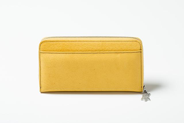 【国産イノシシ革】フルジップ ロングウォレット(Yellow)【STY Original】