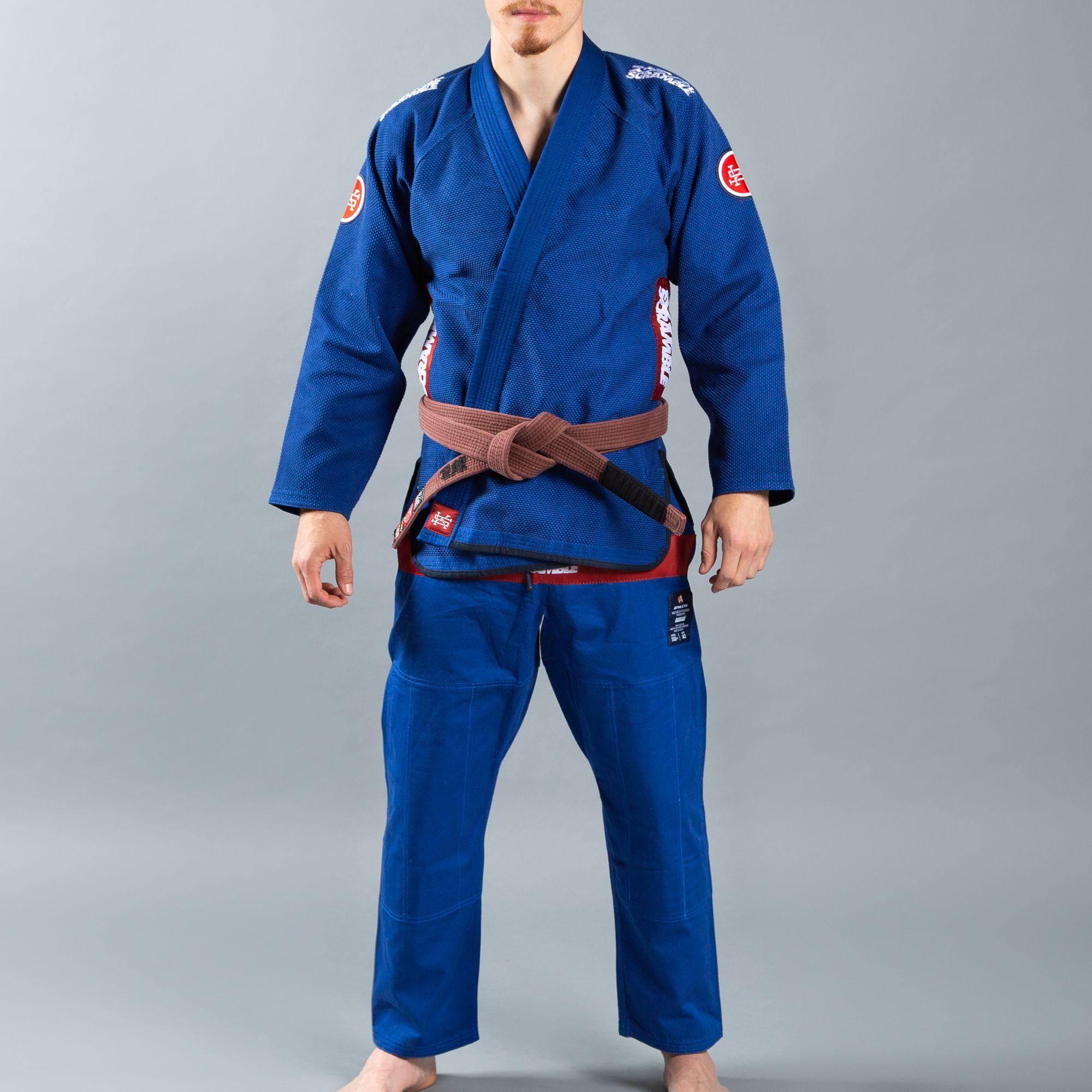 SCRAMBLE ATHLETE 4: 550+ ( ブルー、青)|ブラジリアン柔術衣