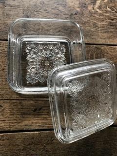 レトロ 蓋付きガラス
