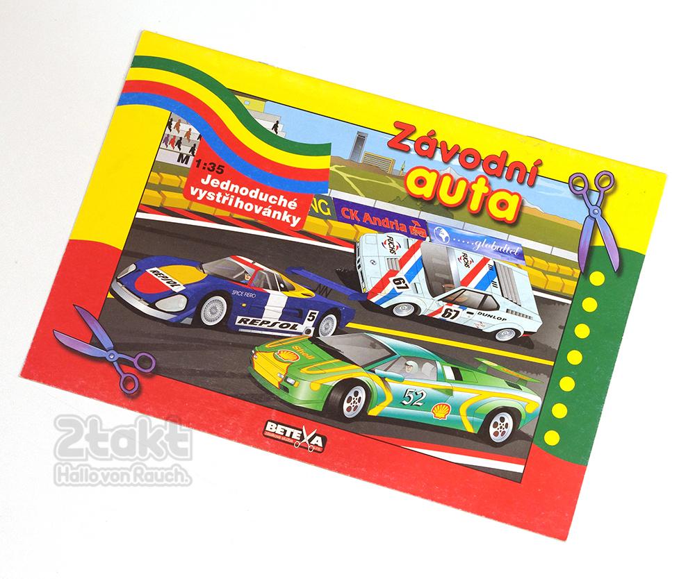ペーパークラフト レーシングカー BETEXA  Závodní auta