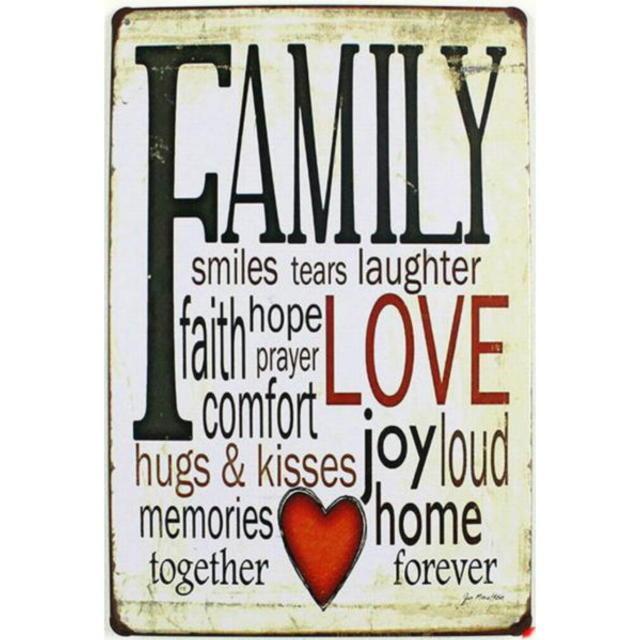 【ブリキ看板】文字看板FAMILY 小型版[A81525]