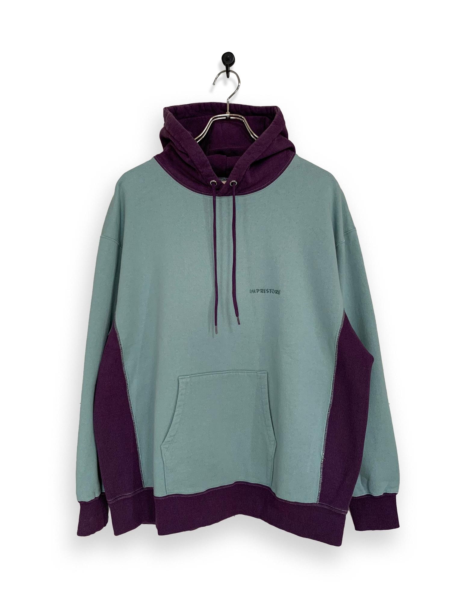 Original Hooded Sweatshirt / 2tone / sax blue × purple