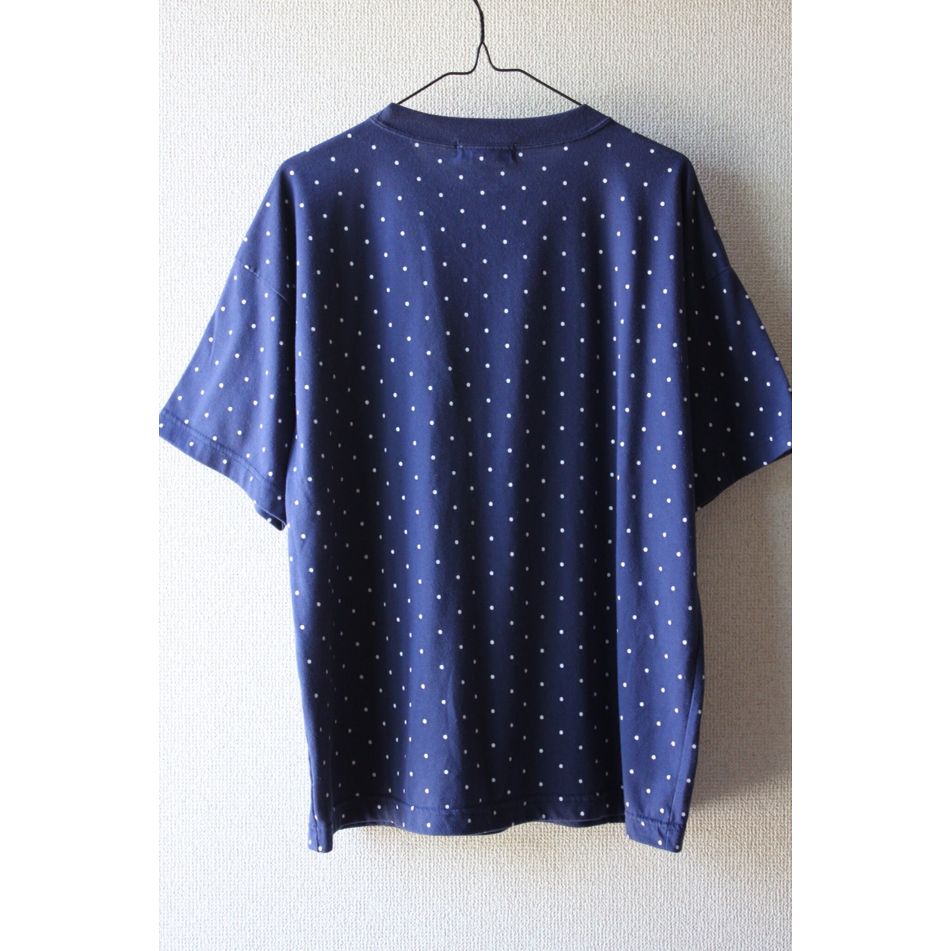 Vintage dot print pocket t shirt
