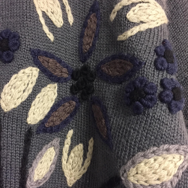 vintage embroidery cardigan