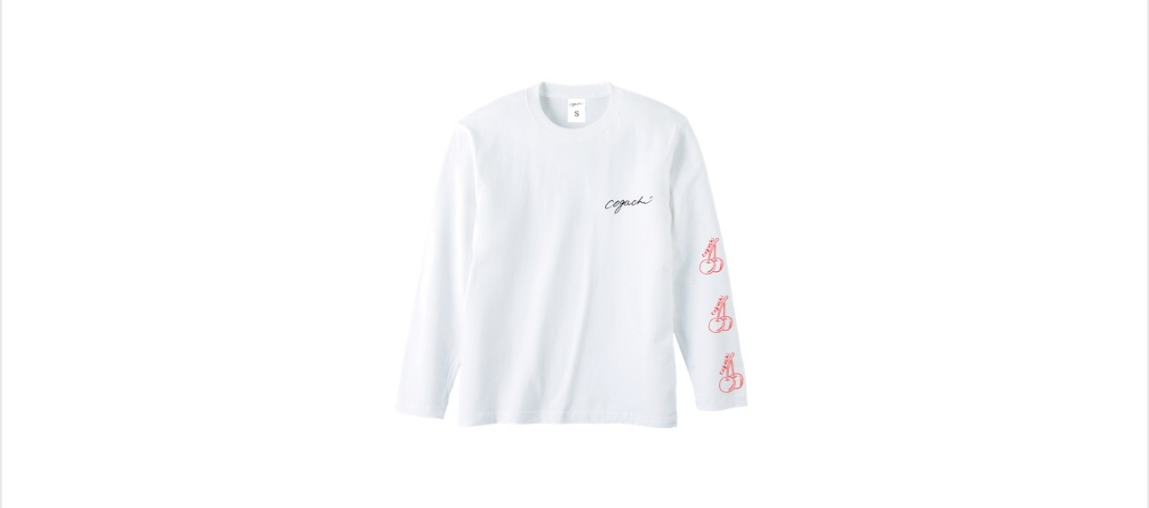 coguchi cherry long T-shirts (WH/RED)