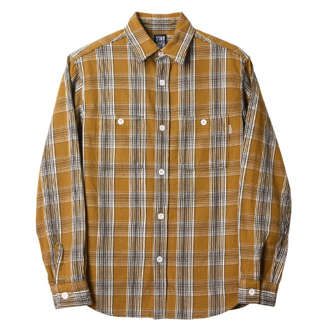 STANDARD CALIFORNIA #SD Flannel Check Shirt Beige