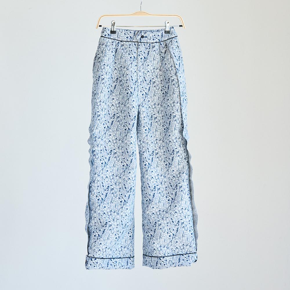 19SS Side volume line pants〈Dark blue〉