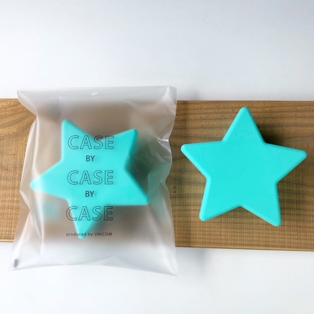 CASE BY CASE BY CASE -star food case- Lite Blue 星フードケース・タッパー