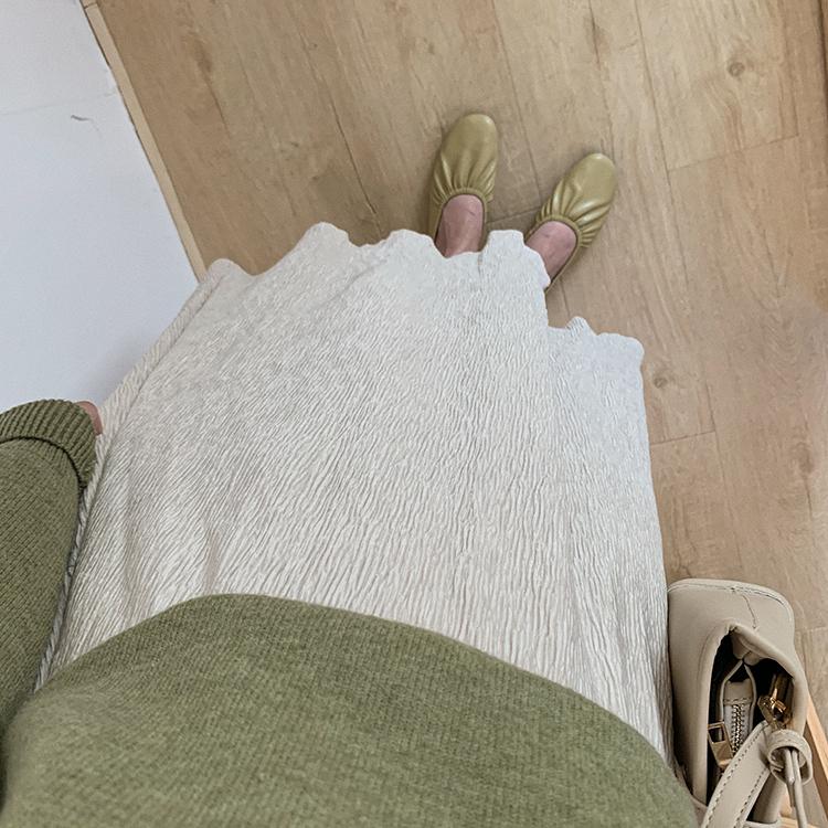 〈カフェシリーズ〉くしゅくしゅベロアスカート【kusyu kusyu velours skirt】