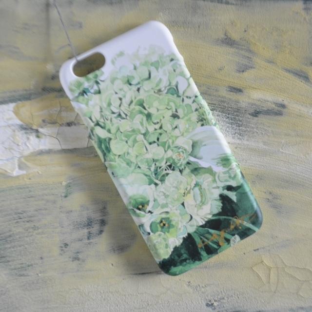 Green bouquet 側表面印刷スマホケース  iphone6他 小さいサイズ