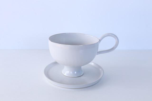 wakako ceramics/坂本和歌子 しらゆりカップ&ソーサー