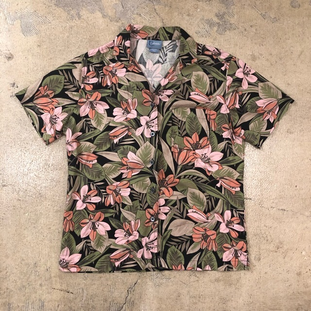 Open Collar Floral Shirts